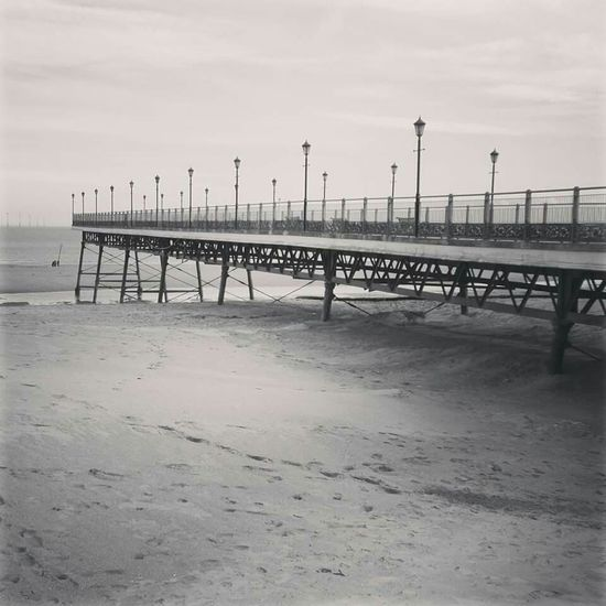 Pier Beachphotography On The Beach Beach At The Beach Skegness Black And White