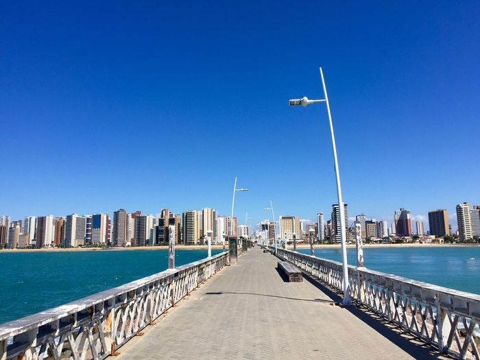 Fortaleza The Way Forward Built Structure Water Blue Architecture Day Sea Outdoors Travel Destinations City Sky Travel Skyscraper No People Urban Skyline Cityscape Clear Sky
