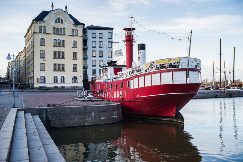 Lightship Lightship Relandersgrund Architecture Building Exterior Built Structure Day Harbor Lightvessel Mode Of Transport Moored Nature Nautical Vessel Navigation No People Outdoors Portrait Red Reflection Relandersgrund Sea Sky Transportation Water Waterfront