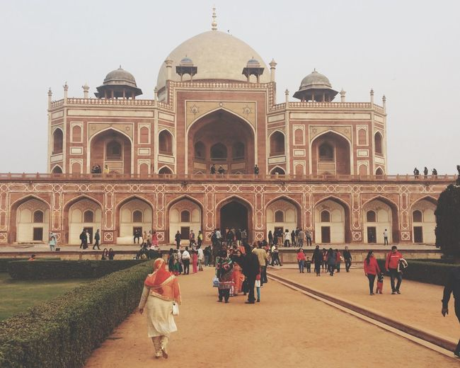 Humayun's tomb Architecture Travel Destinations Building Exterior Tourism Built Structure Travel Arch Clear Sky Cultures Dome Large Group Of People Men History Real People Women City Sky Day Outdoors Adults Only