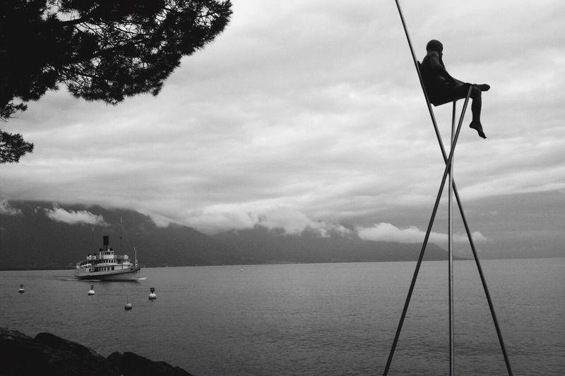 Switzerland Swiss Lake Leman Geneva Solitude