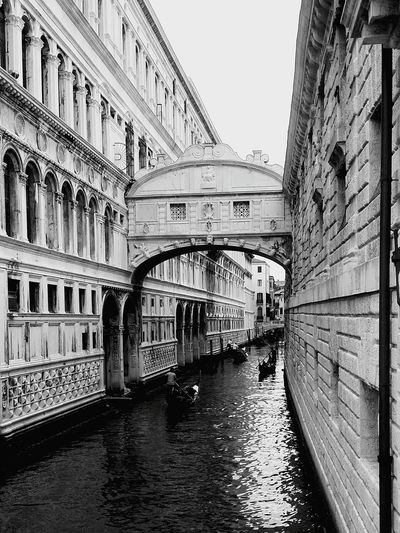 Venezia Italy Sospiri Bridge Bridge - Man Made Structure Architecture Building Exterior Water Gondola - Traditional Boat Travel Destinations Built Structure Day Sky Story