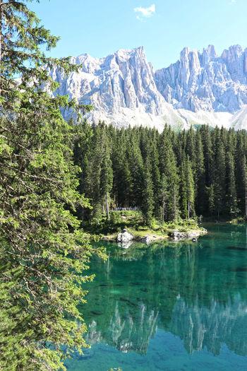 Carezza lake in