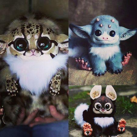 How Cute 😍😍😍😍😍 this Toys seems to be *-* I want them Animaltoys Lovely Littlemonsters Littlemonster ImInLove