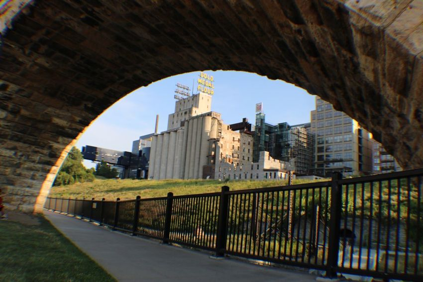 Stone Arch Bridge Architecture Built Structure Building Exterior Arch Sky No People Nature Railing Travel Destinations Day Building Security Travel Direction Fence City Safety Protection History Boundary