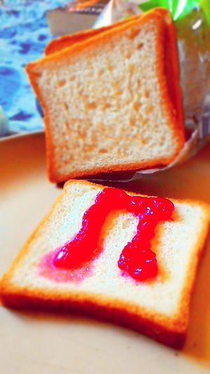 Foodforthought Breadandjam Snacktime Yummy♡ Mixedfruitjelly😜😚 Musictym🎶 Musicforfood🎵