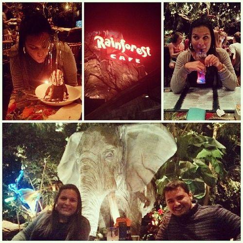 Shes loves this place! | Happybirthdaybabe MyGirlMyLove Rainforestcafe Monday Downtown Disney Orlando Florida