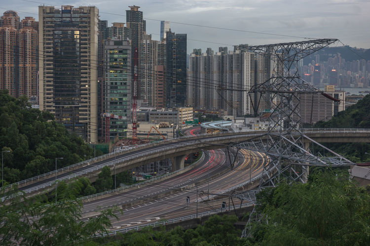 Hong Kong skyline Architecture Bridge - Man Made Structure Building Exterior Built Structure Connection Outdoors Sky Skyscraper Tower Transportation Travel Destinations Urban Skyline