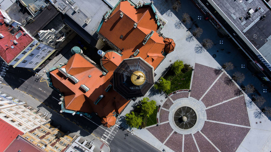 Town Hall in Opava Czech Republic From Above  Perspectives On Nature Phantom 4 Architecture City Cityscape Design Dji Town Hall