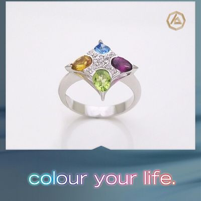 #diamond #ring Colour Your Life Collection 18kt #gold set with #diamond #jewelry & colored stones #antoinesaliba #jewelrydesigner #beirut #byblos #lebanon antoinesaliba.com Byblos Beirut Gold Lebanon Jewelry Ring Diamond Antoinesaliba Jewelrydesigner