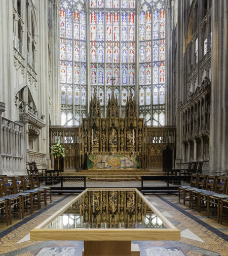 Architecture Indoors  Window Built Structure Place Of Worship History Religion Luxury Ornate Reflection No People Chapel Gloucester Cathedral Stained Glass HDR