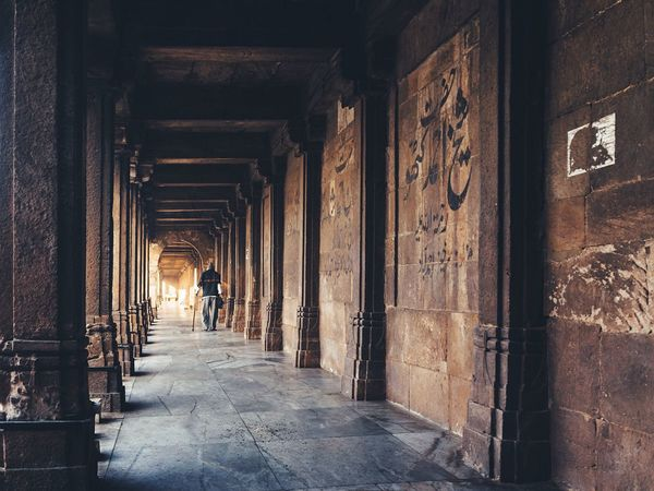 Architecture Interior Perspective Mosque Masjid Ahmedabad India Oldman Indoors  Religion The Street Photographer -2016 EyeEm Awards The Photojournalist - 2016 EyeEm Awards Feel The Journey