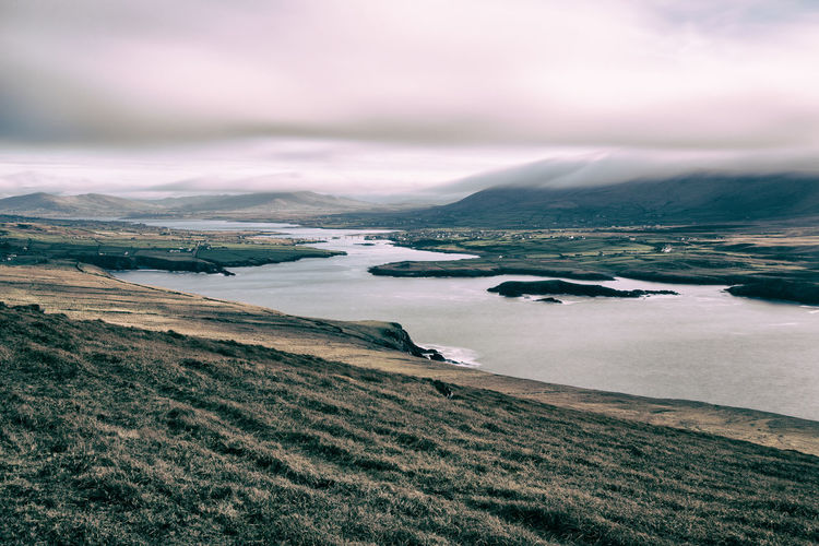 Beauty In Nature Calm Canon Cloud Cloud - Sky Cloudy Coastline Day Idyllic Ireland Landmesser Landscape Mountain Mountain Range Nature No People Non Urban Scene Non-urban Scene Outdoors Scenics Sky VSCO Vscocam Water Weather