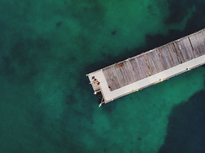Quarantine Station Wharf from above, Manly, Sydney. Aerial Shot DJI Mavic Air Drone  Landing Sydney Harbour  Birds Eye View Directly Above Dock Drone Photography Escape The City Ferry Station High Angle View Hiking Adventures Landing Place Mooring Outdoors Pier Still Life Transportation Turquoise Colored Walkway Water Waterfront Wharf Wooden