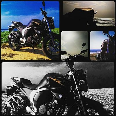 A perfect day+ a perfect machine = happy week Roadtrip Yamaharacing Fz Blackbeast Loner