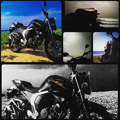 A perfect day+ a perfect machine = happy week Roadtrip Yamaharacing Fz Blackbeast Loner