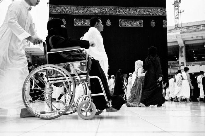 Circumambulation around the Kaaba. Makkah. Documentary Makkah