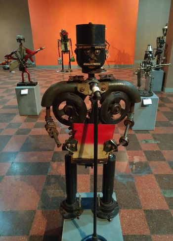 Junk metal art - Proklamator Indoors  No People Art Inonesia Exhibition Surabaya Junk-art Metal Sculpture