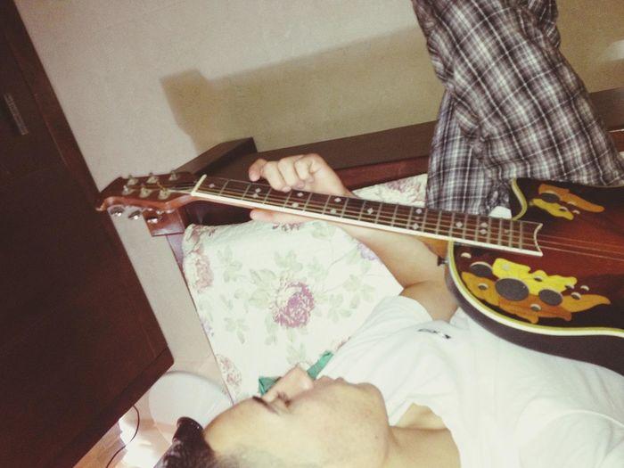 having fun with my guitar <3