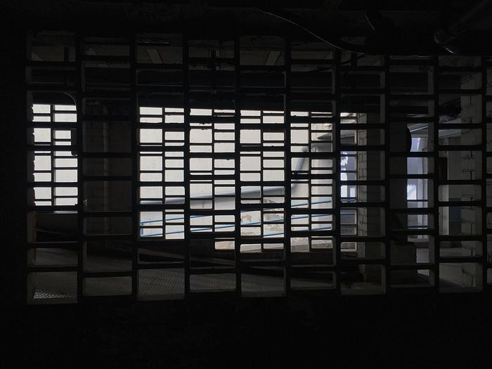 Garage Parking Window Architecture Indoors  Built Structure Building No People Day Pattern Grid