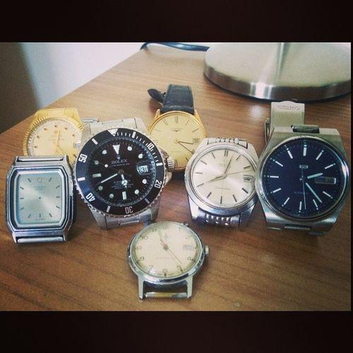 Rolex Omega Timex Longines seiko titoni