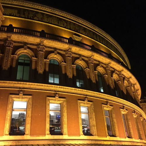 London Lifestyle Architecture Building Exterior Illuminated Royal Albert Hall
