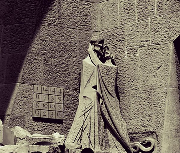 sagrada familia external Communication Text Ancient Civilization Close-up Architecture