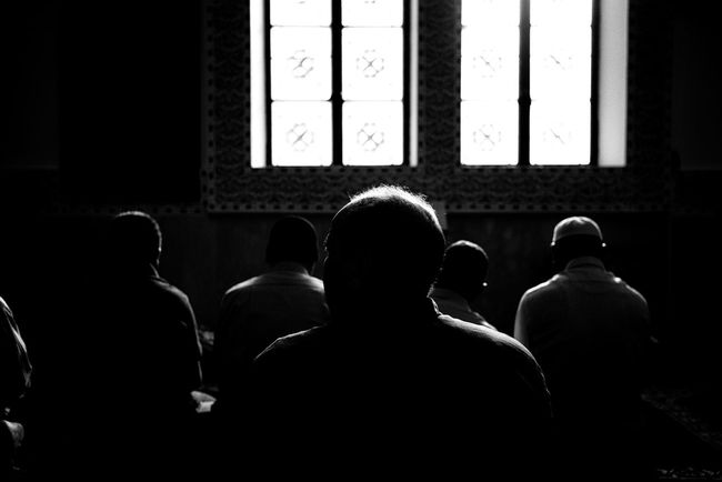 And the sun is some of the effects of your ability. Alothman mosque, Hawalli, Kuwait. February 2018. Praying Sillouette Shadows & Lights Leicacamera Indoors  Real People Rear View Window Men Sitting Togetherness