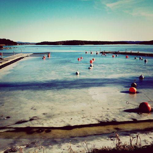The Marina, Melting Ice, Sunny Day, Walking With The Baby