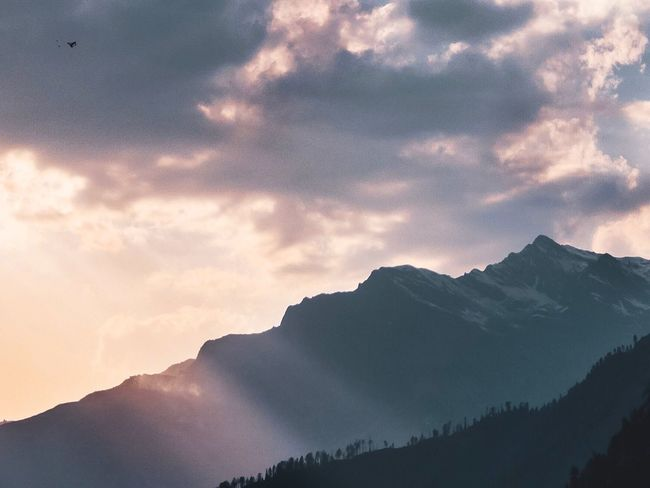 The light of hope Cloud - Sky Mountain Sky Beauty In Nature Scenics - Nature Tranquility Tranquil Scene No People Environment Mountain Range Nature Landscape Non-urban Scene Outdoors Majestic Tree Idyllic Mountain Peak Land Coniferous Tree