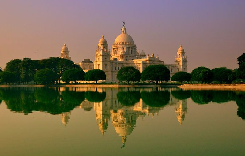 Reflection Of Victoria Memorial In Lake