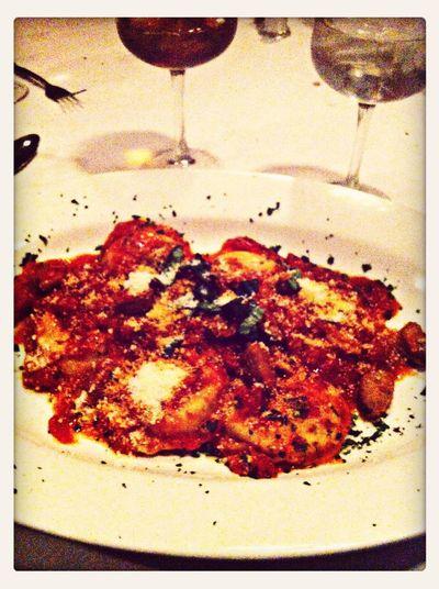 Dinner with the family. La Famiglia  Ravioli Foodpic Yum