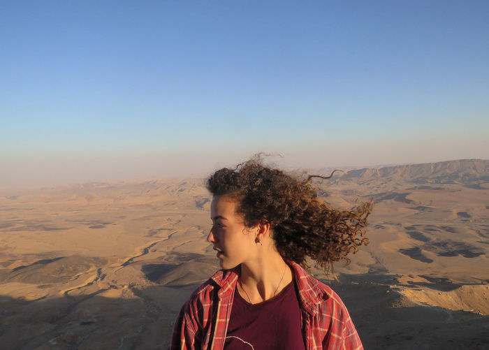 View High Angle View Hights Sand Dune Clear Sky Desert Sand Sunset Front View Mountain Sky Hiker Go Higher