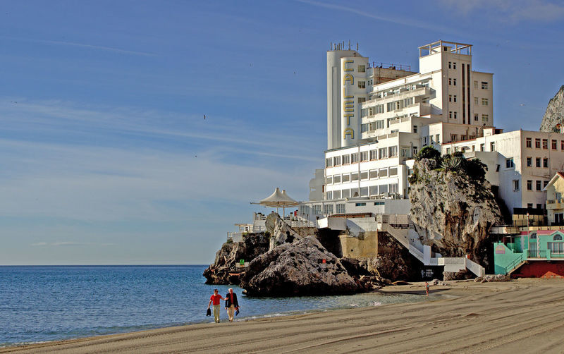 Caleta Hotel and beach, Gibraltar Architecture Beach Beach Life Beach Time Beach Walk Beach Walkers Blue Building Building Exterior Built Structure Caleta Hotel Caleta Hotel Gibraltar Clear Sky Day Gibraltar Gibraltar Beach Gibraltar Hotel Hotel Low Angle View Outdoors Sky Views Of Gibraltar Walk On The Beach  Walkers On The Beach Walking On The Beach