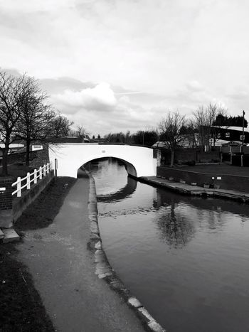 Blackandwhite Photography Enjoying Life Taking Photos Check This Out Black And White Collection  Black And White Black And White Photography Canal Bridge Black And White Collection! Reflections In The Water Water Reflections Showcase: February Middlewich Cheshire Walks By The Canal