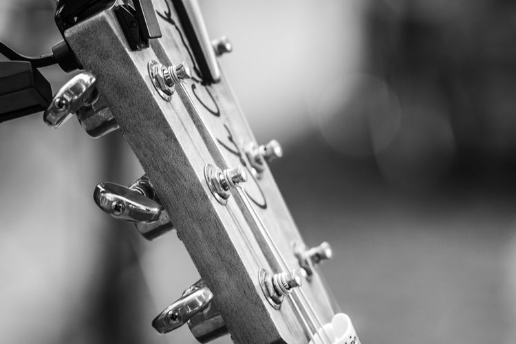 Black & White FUJIFILM X-T10 Backstage Acoustic Black And White Black And White Friday Close-up Concert Day Door Focus On Foreground Fujifilm Guitar Key Latch Metal Music No People Outdoors