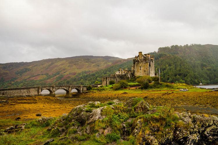 Eilean Donan Landscape Scenics History Built Structure Cloud - Sky Highlands Highland Castle The Past Mountain Range