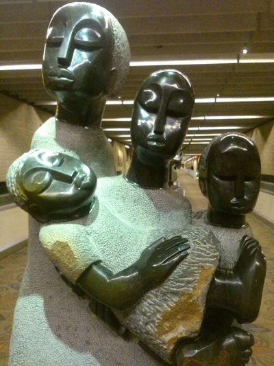 African Art Atlanta Airport Family Statue Found On The Roll First Eyeem Photo Portraits Thats A Big Baby Families EyeEm Diversity Art Is Everywhere