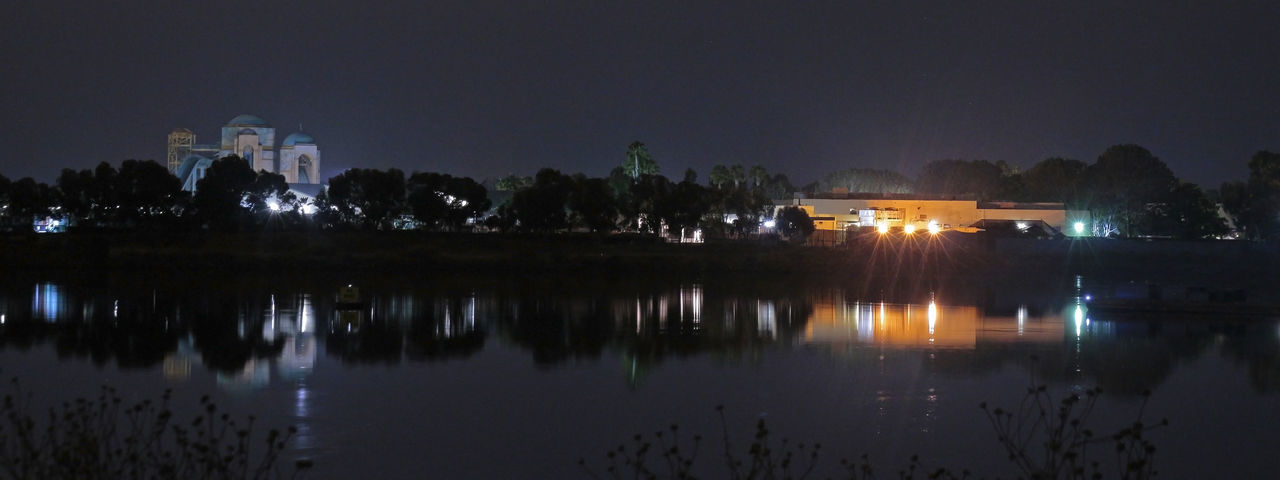Looking at Seaworld from Fiesta Island, sometime in August 2016 2016 Architecture August Nights Beauty In Nature Buildings At Night Illuminated In Bloom Nature Night Night Photography Outdoors Parks Reflection Reflections In The Water Season  Seaworld Seaworld San Diego Water