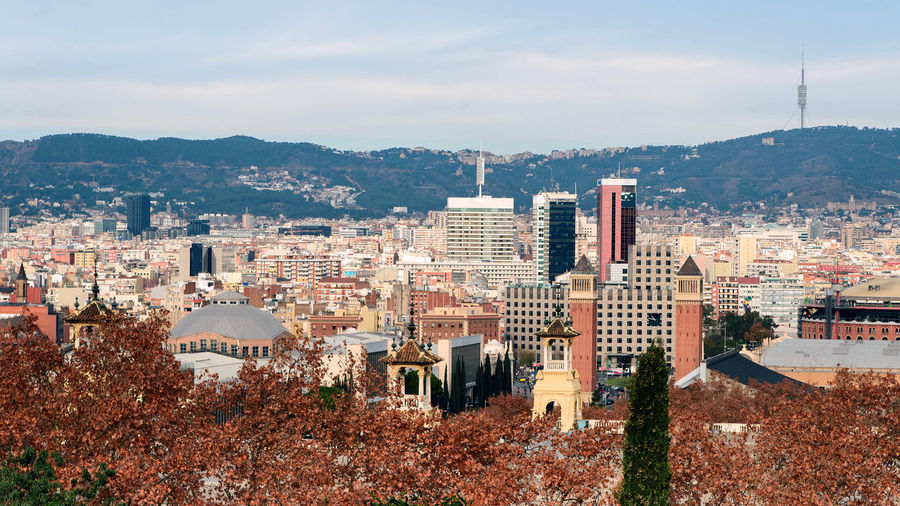 panorama of Barcelona Building Exterior Built Structure Architecture City Cityscape Sky Building Residential District Nature Crowded Mountain Crowd Day High Angle View Cloud - Sky Outdoors Office Building Exterior Tree Skyscraper Barcelona View From Above
