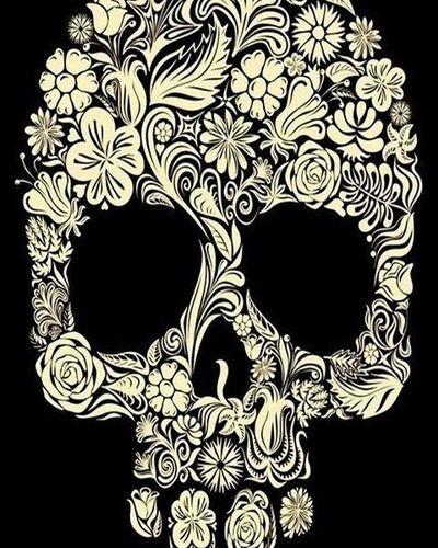 Teschio  Skull Decorazioni Fiori Decorazionifloreali Flowers Floraldecorations Decorations Floreali Disegno