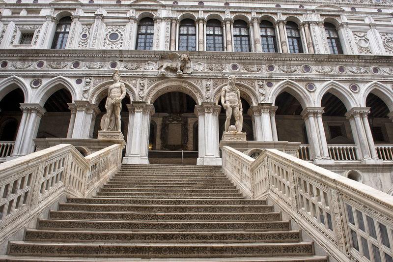 Steps leading towards doges palace