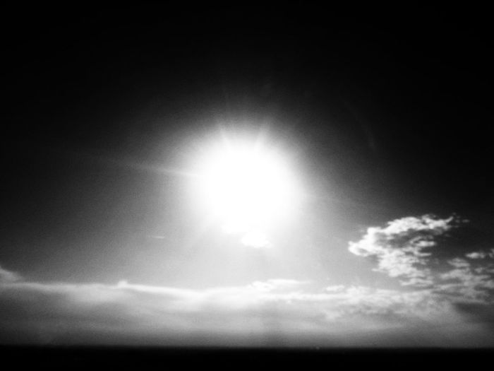 Violent sun - in summer when we get over 39°C like nowadays here in Germany, the sun is just relentless to us all. Hope the summer isn't endless... This photo is a snapshot and was made with the small Sony W830 during the extreme summer heat of 2019. Summer Violent Sun Sunny Black And White Feeling Season  Heat Hot Shining Sky Cloudscape Black Nowadays Germany German Blur Blurred Blurry Concept Cloud - Sky Beauty In Nature Sunlight Scenics - Nature Tranquility Nature Low Angle View Tranquil Scene Sunbeam No People Day Idyllic Outdoors Lens Flare Bright Shiny Natural Phenomenon Brightly Lit Moonlight Eclipse Solar Flare