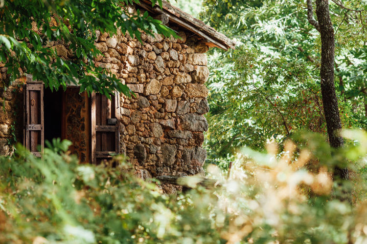 Alone Time Isolated Mediterranean  Relaxing Sierra Weekend Wood Architecture Building Exterior Built Structure Day House Mountain Mountains Nature Oak Outdoors Stone House Tree Weekend Activities Wood - Material Woods