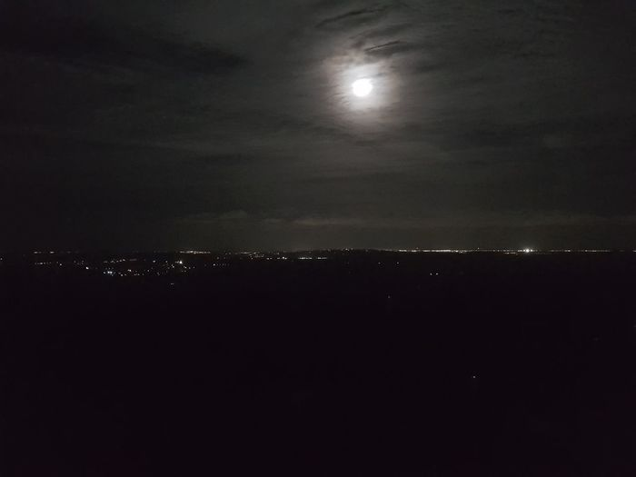 Nightlights Moon Night Astronomy Sky No People Moonlight Space Scenics Nature Outdoors No Edit/no Filter Mobilephotography Check This OutThe Purist (no Edit, No Filter) From My Point Of View Minimalist Photography  City Lights Tranquility Night Photography in Maleny, Queensland, Australia