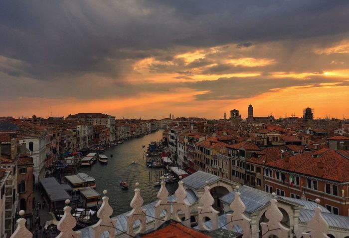 City Travel Destinations Sky Cloud - Sky Landscape Photography Photooftheday Photographer Venice Venezia PhonePhotography High Angle View Sunset Sunset_collection Building Exterior Architecture First Eyeem Photo