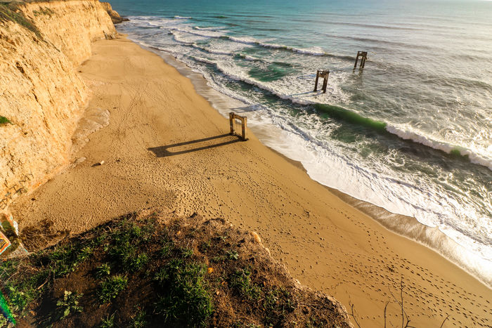 Waves and waves Beach Sand Sea Water Shore Nature Sunlight Outdoors Beauty In Nature Day No People POV Santa Cruz Davenport  Beachphotography Traveling Sky Nature Vacations Beach Photography Ocean Ocean View Wave Waves Mountain
