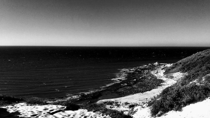 Sea Horizon Over Water Beach Water Sky Nature No People Outdoors Scenics Beauty In Nature Day Blackandwhite Natureinblackandwhite Jericoacoara - CE Jericoacoara Ceará Brasil The Week On EyeEm Black And White Friday