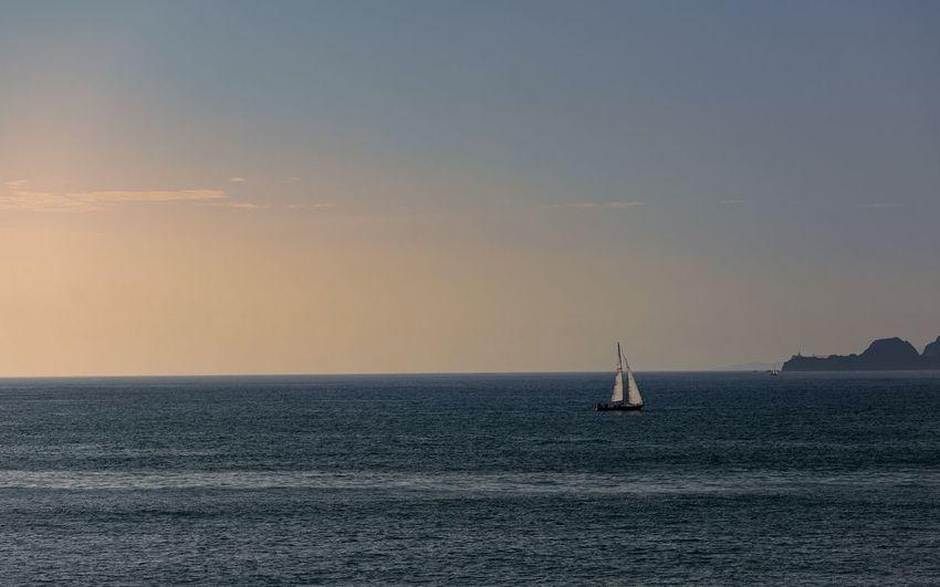 EyeEm Selects Sailing Ship Nautical Vessel Sailing Sea Sunset Sailboat Beach Horizon Wave Yachting The Great Outdoors - 2018 EyeEm Awards