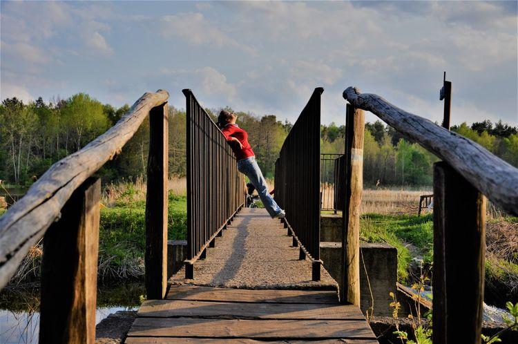 Brigde, woman sun, Human Body Part Day Sky Outdoors Adult Beautiful Nature Bridge - Man Made Structure Nature Water